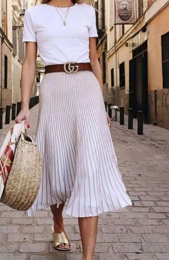 С чем носить юбку-плиссе этой весной